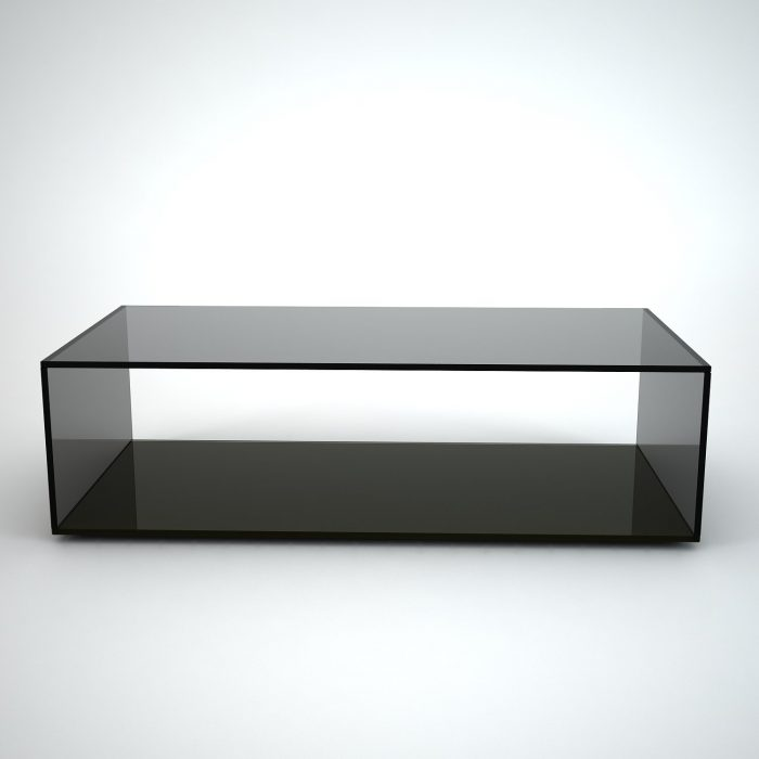 Connection glass and brass coffee table by gallotti radice klarity glass furniture Black coffee table with glass
