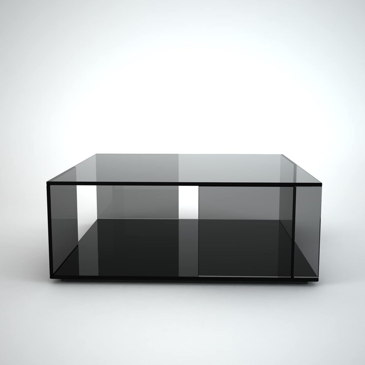 tifinno-square black glass coffee table