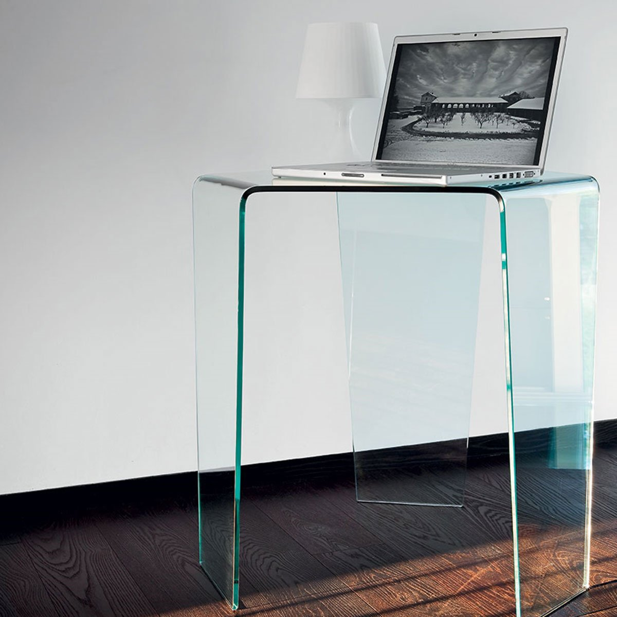 3 Feet Curved Glass Coffee Table By Sovet Italia Klarity