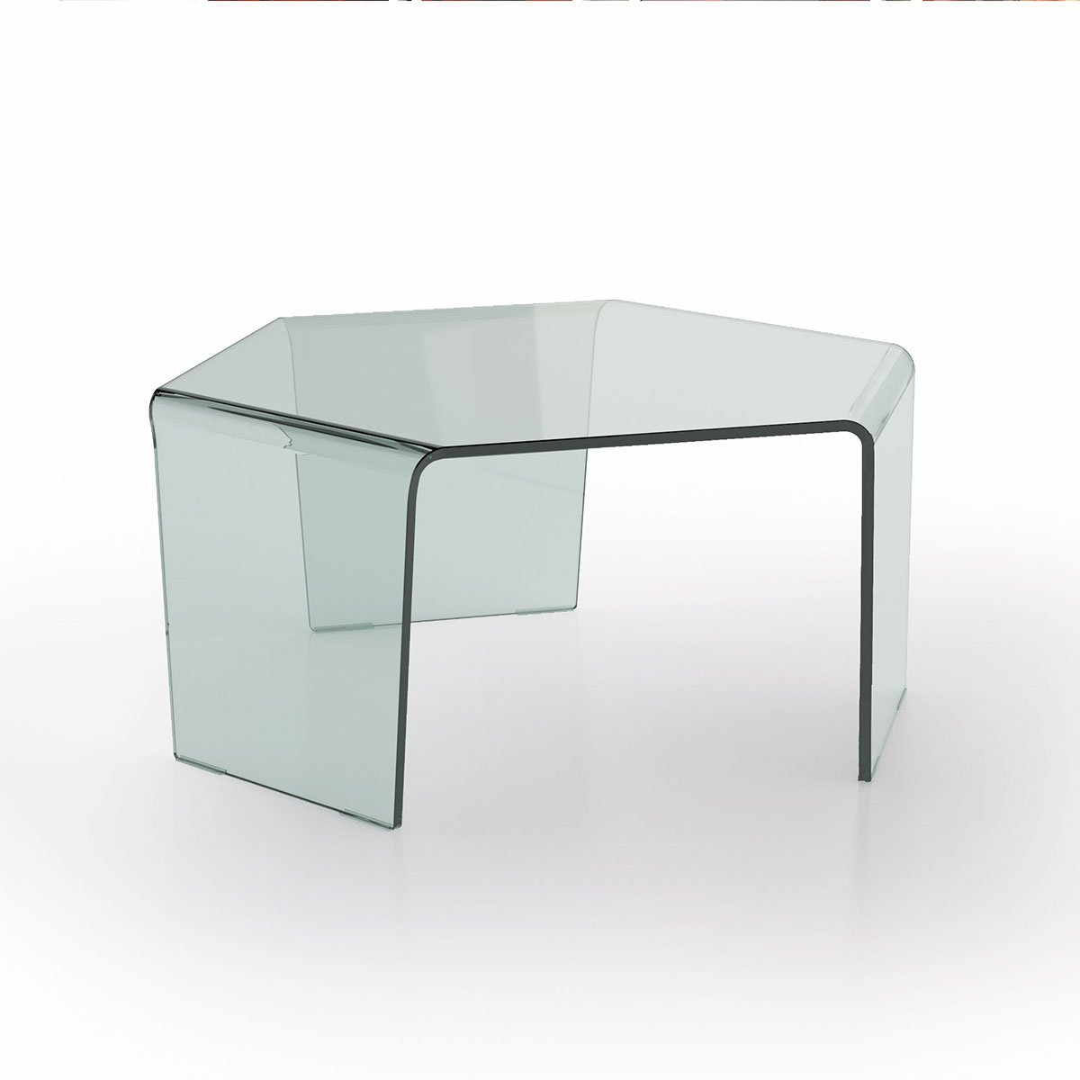3 feet curved glass coffee table klarity glass furniture for Glass furniture