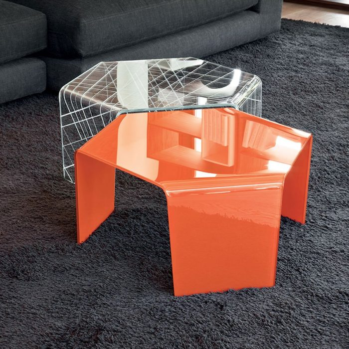 Curved Edge Glass Coffee Table: Glass Coffee Tables