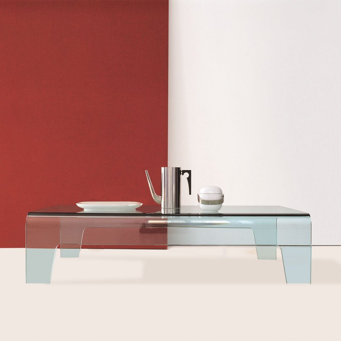 Frog Curved Glass Coffee Table by Sovet Italia