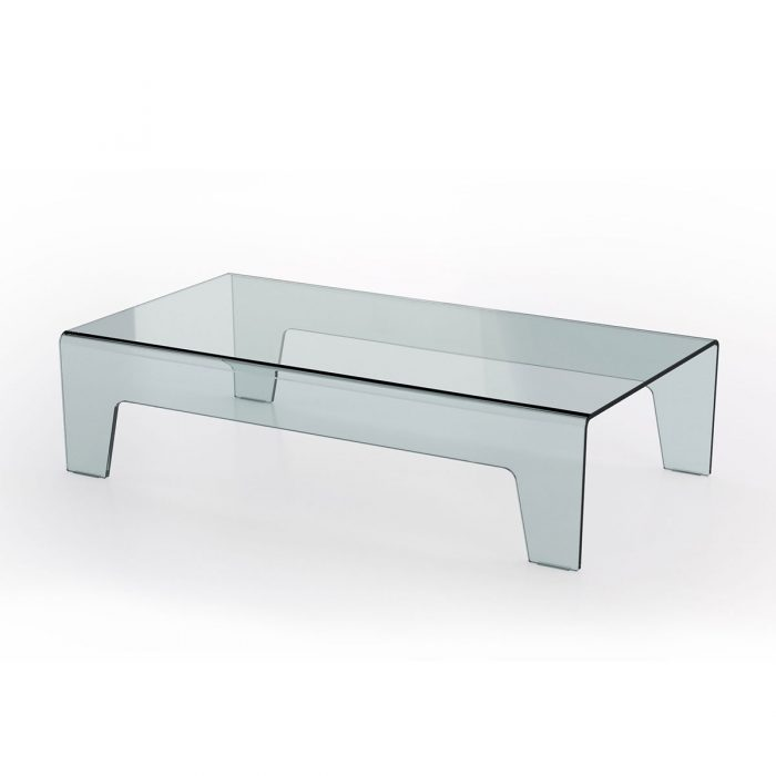 Frog Curved Glass Coffee Table Klarity