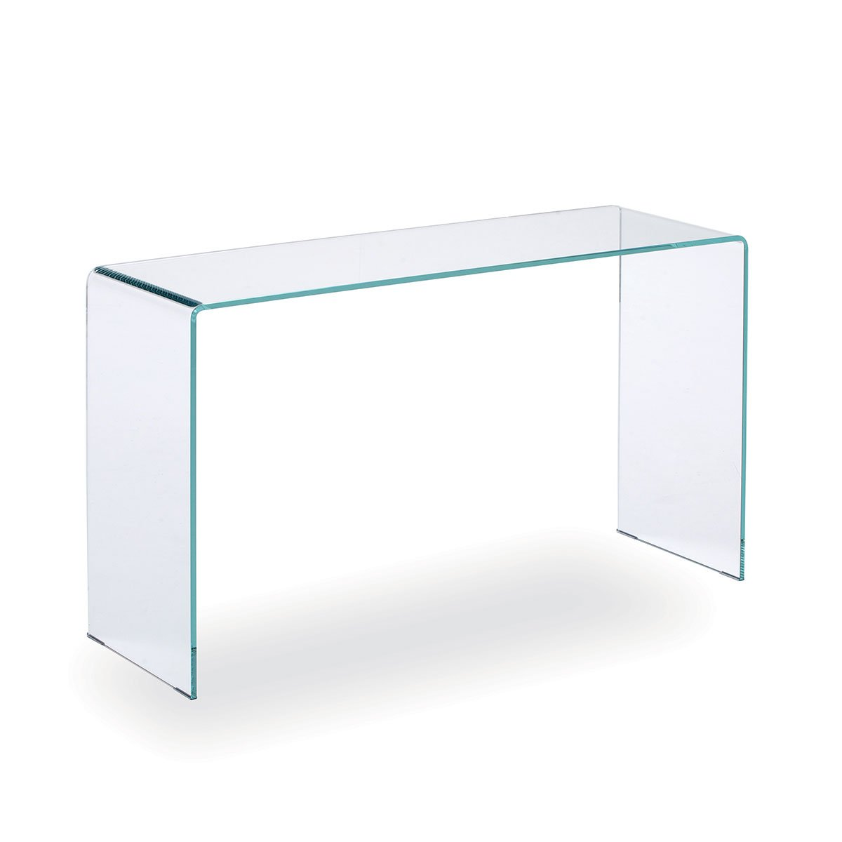 Glass hall table sovet italia klarity glass furniture for Glass furniture
