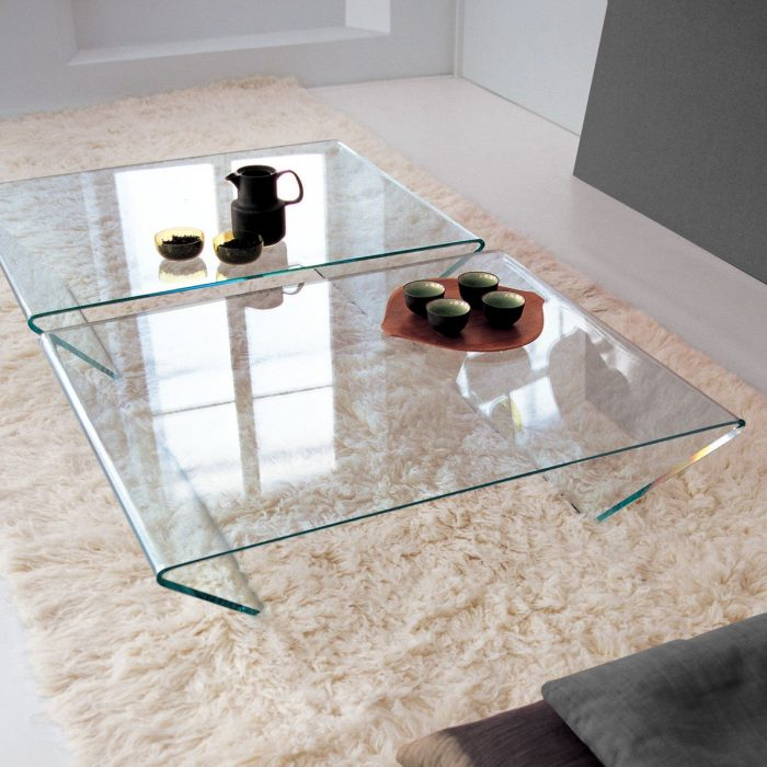 Rubino Curved Glass Coffee Table By Sovet Italia Klarity