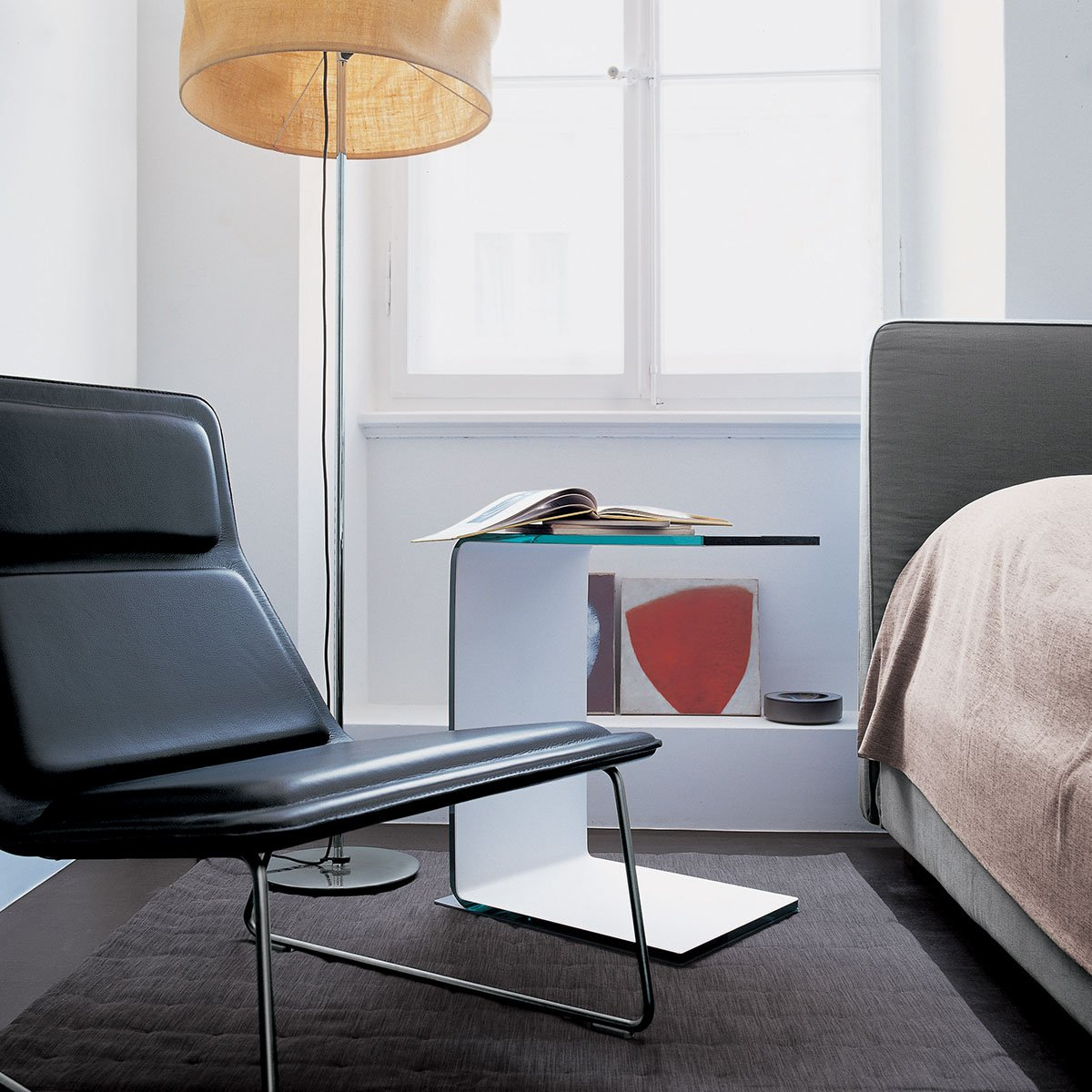 Swan Curved Glass Table All Coloured Klarity Glass Furniture