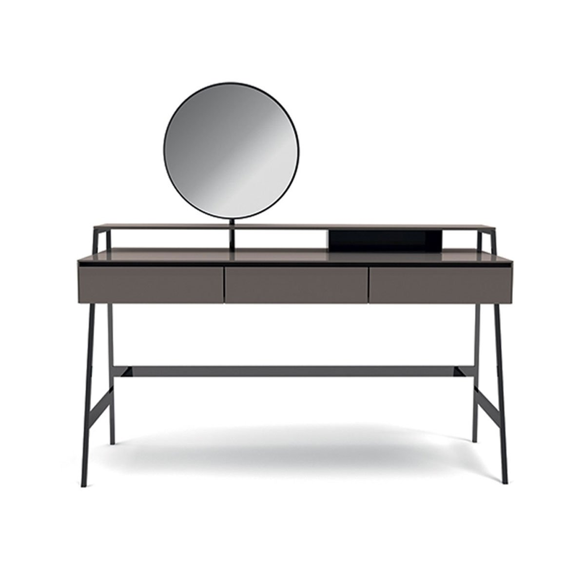 Venere luxury glass desk by gallotti radice klarity glass Mirror glass furniture