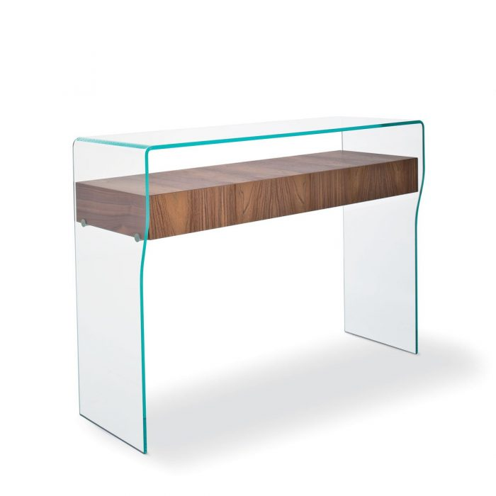 how to build a console table with shelf