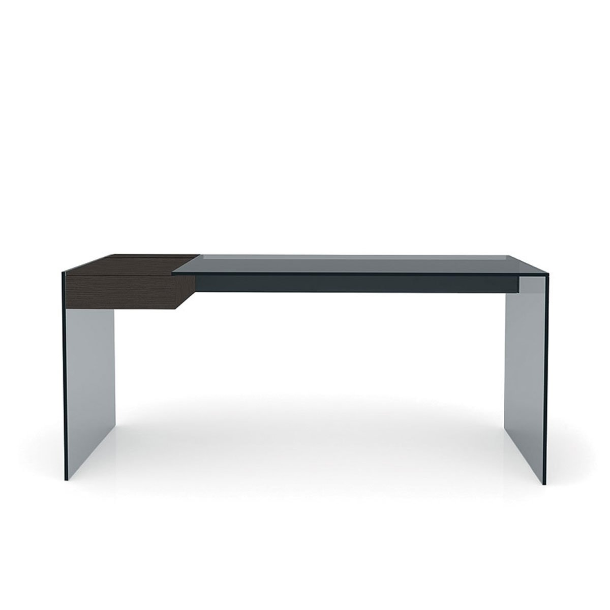 air desk with drawer by gallotti radice klarity. Black Bedroom Furniture Sets. Home Design Ideas