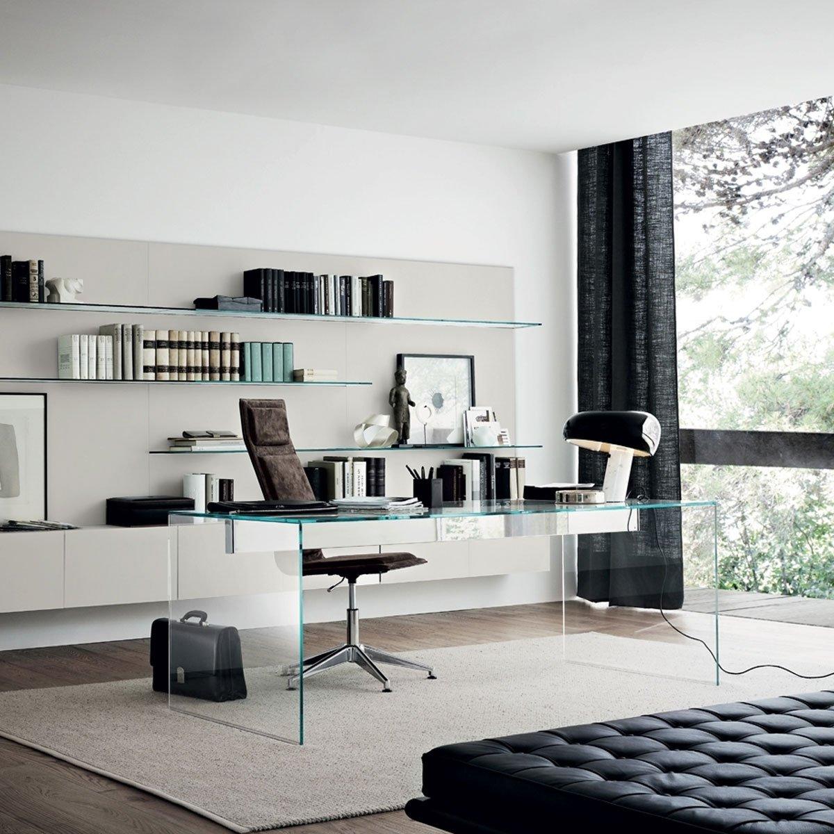 Air Modern Glass Desk By Gallotti & Radice