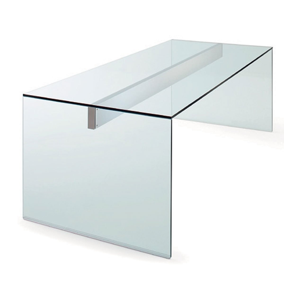 Air glass desk by gallotti radice klarity glass for Glass furniture