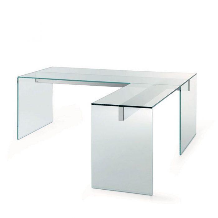 l shape glass desk