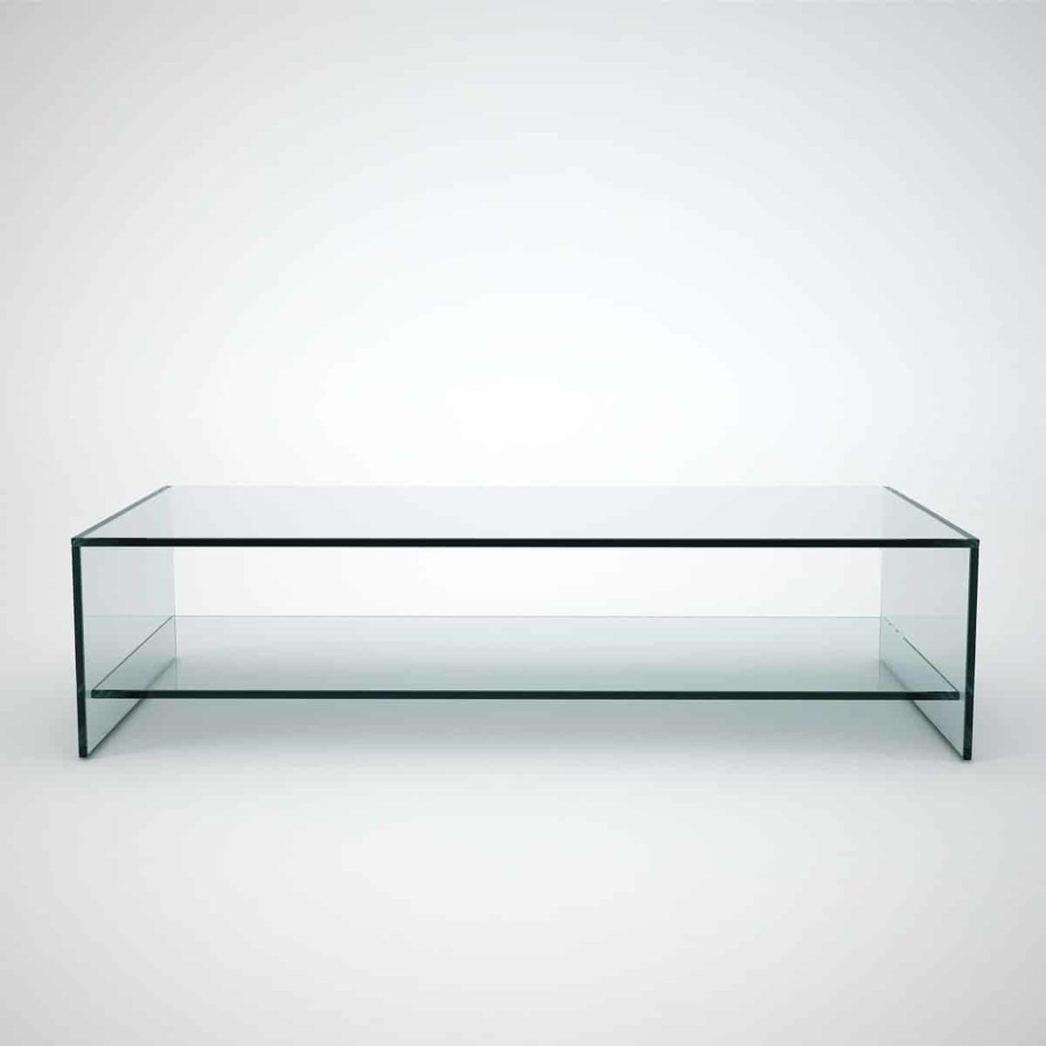 glass coffee table with shelf rectangular
