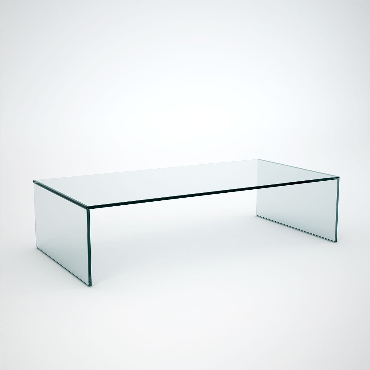 Judd rectangle glass coffee table klarity glass for Glass furniture
