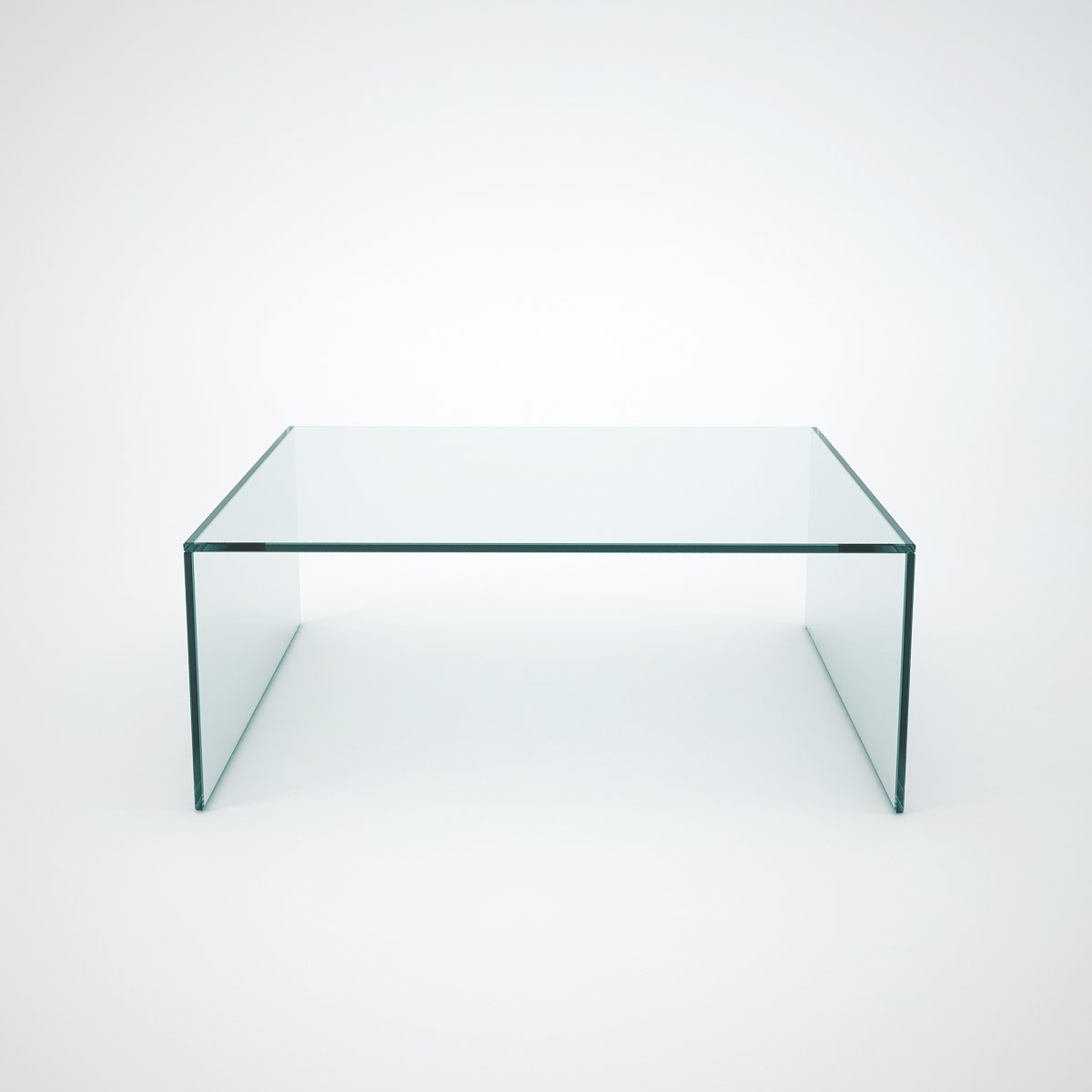 Judd square glass coffee table klarity glass furniture for Glass furniture