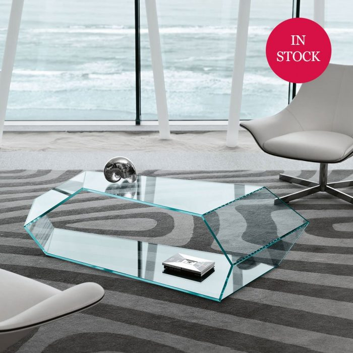 Dekon glass coffee table