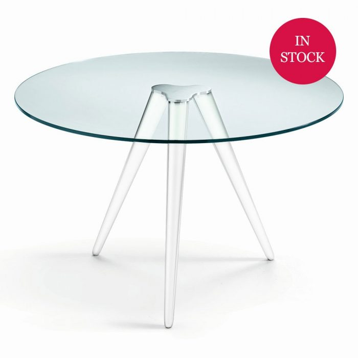 Plinsky Metal and Glass Dining Table