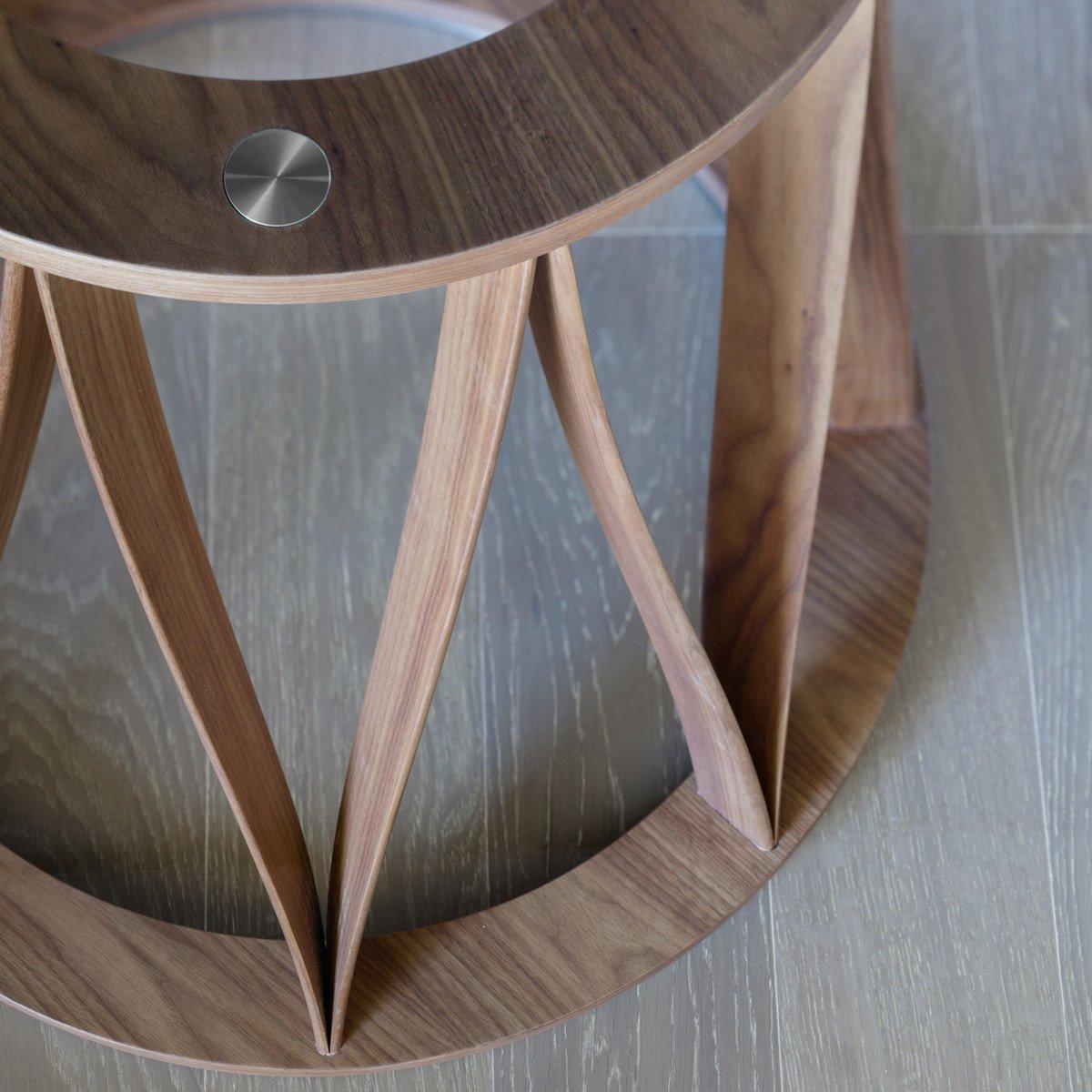 Acco Round Wood amp Glass Dining Table Klarity Glass  : acco glass dining table miniforms 2 from glassfurniture.co.uk size 1200 x 1200 jpeg 69kB