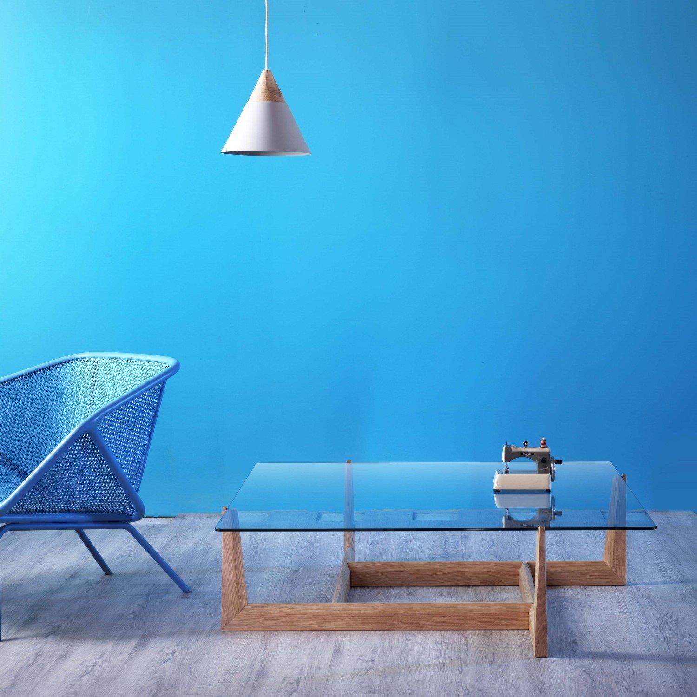 gaudo glass wood coffee table