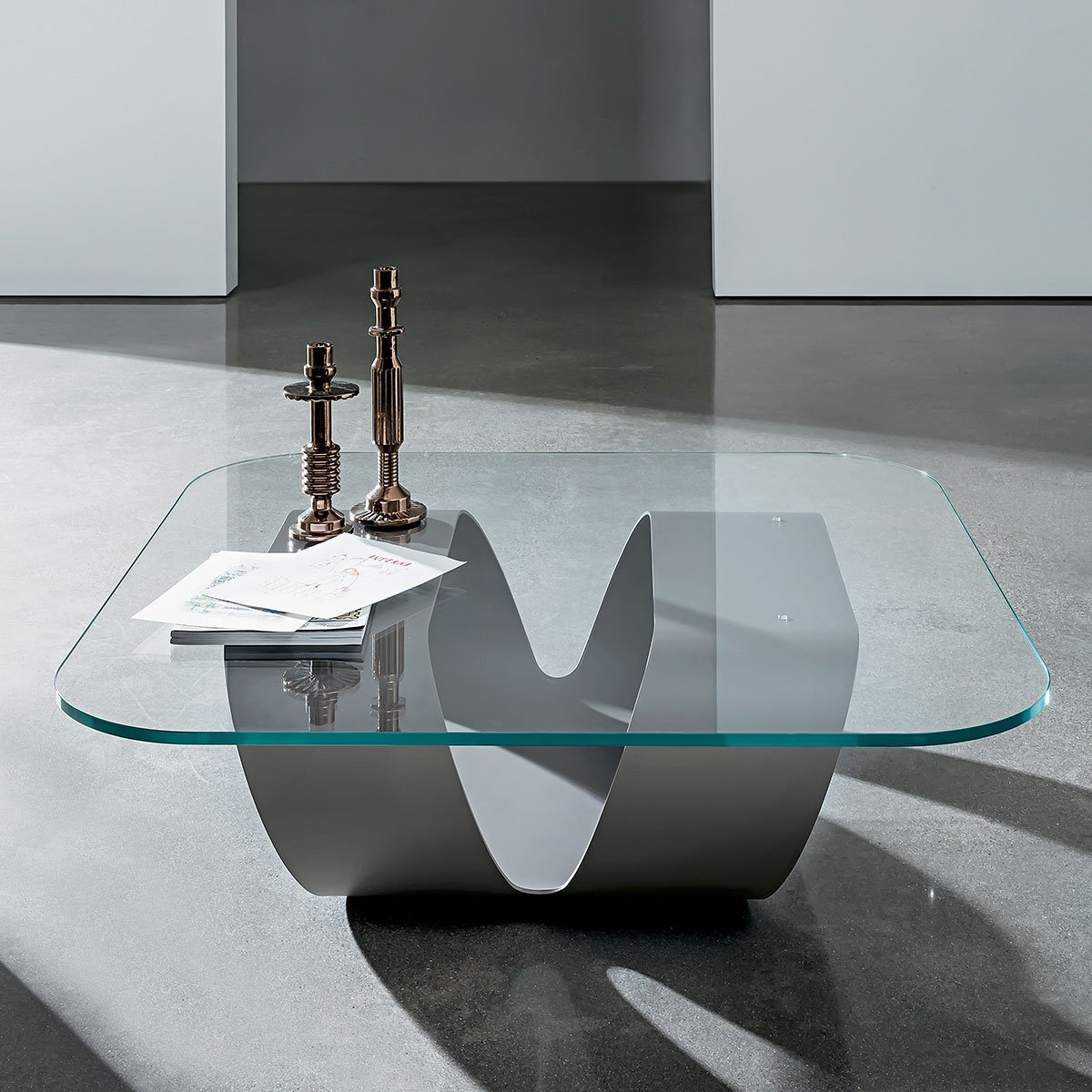 Ring Metal And Glass Coffee Table Klarity Glass Furniture