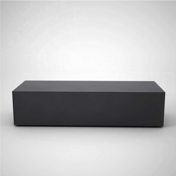 black glass coffee table - rectangular - klarity - glass furniture