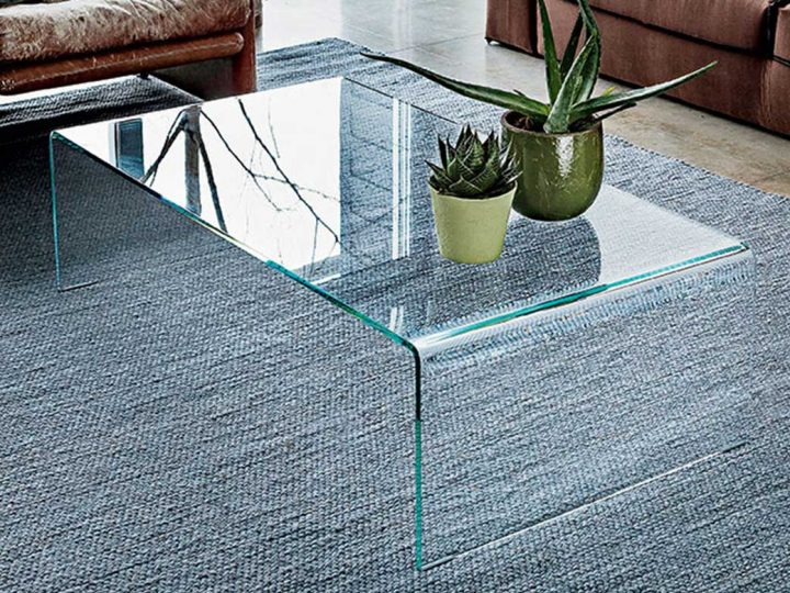 Bridge Curved Glass Coffee Table