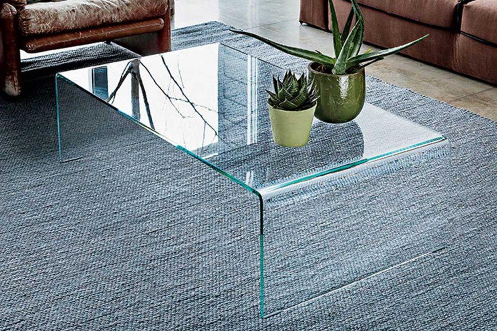 bridge curved glass coffee table