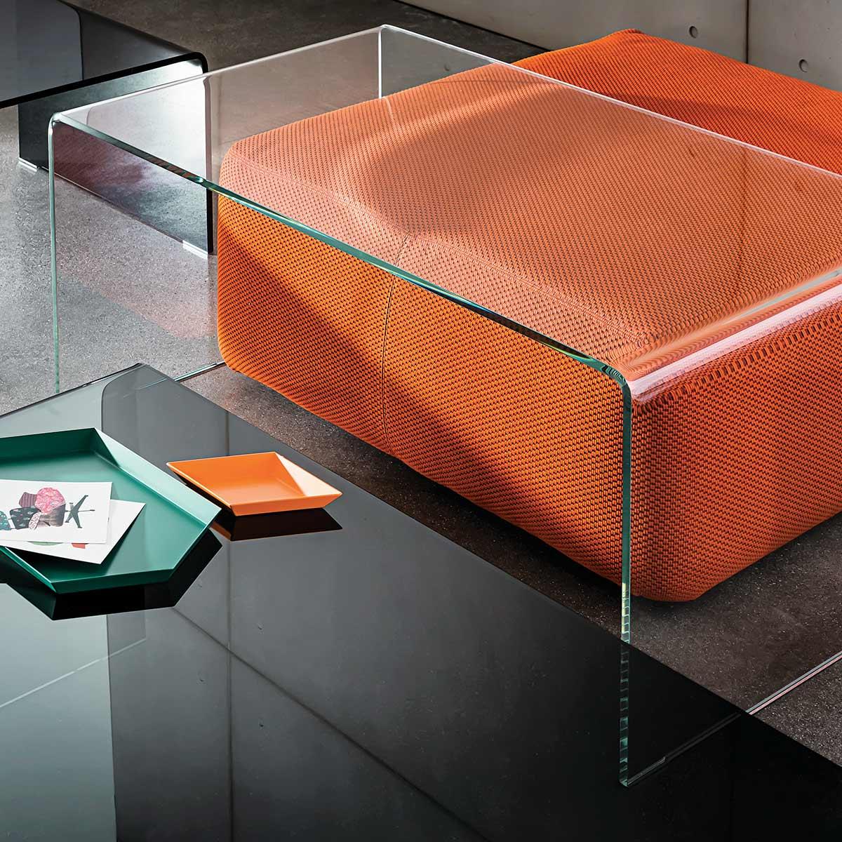 Sovet Bridge Coffee Table Klarity Glass Furniture