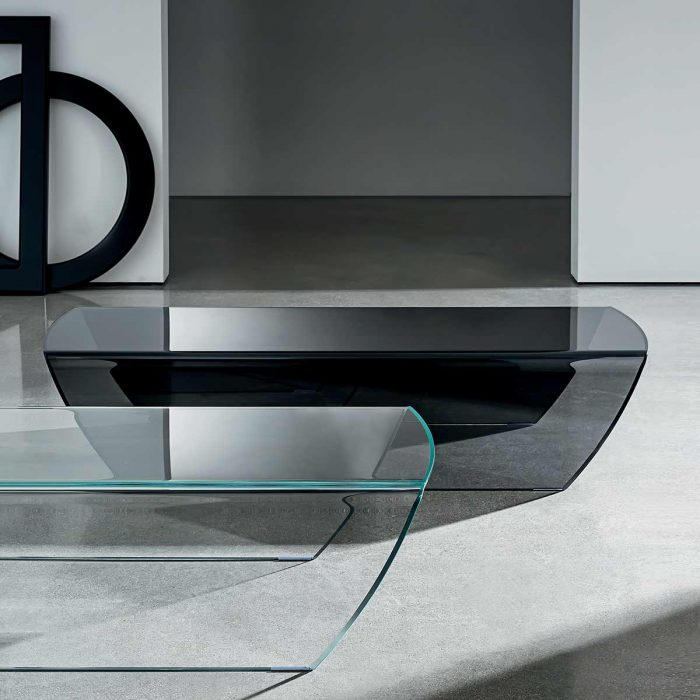 curved glass coffee table taky