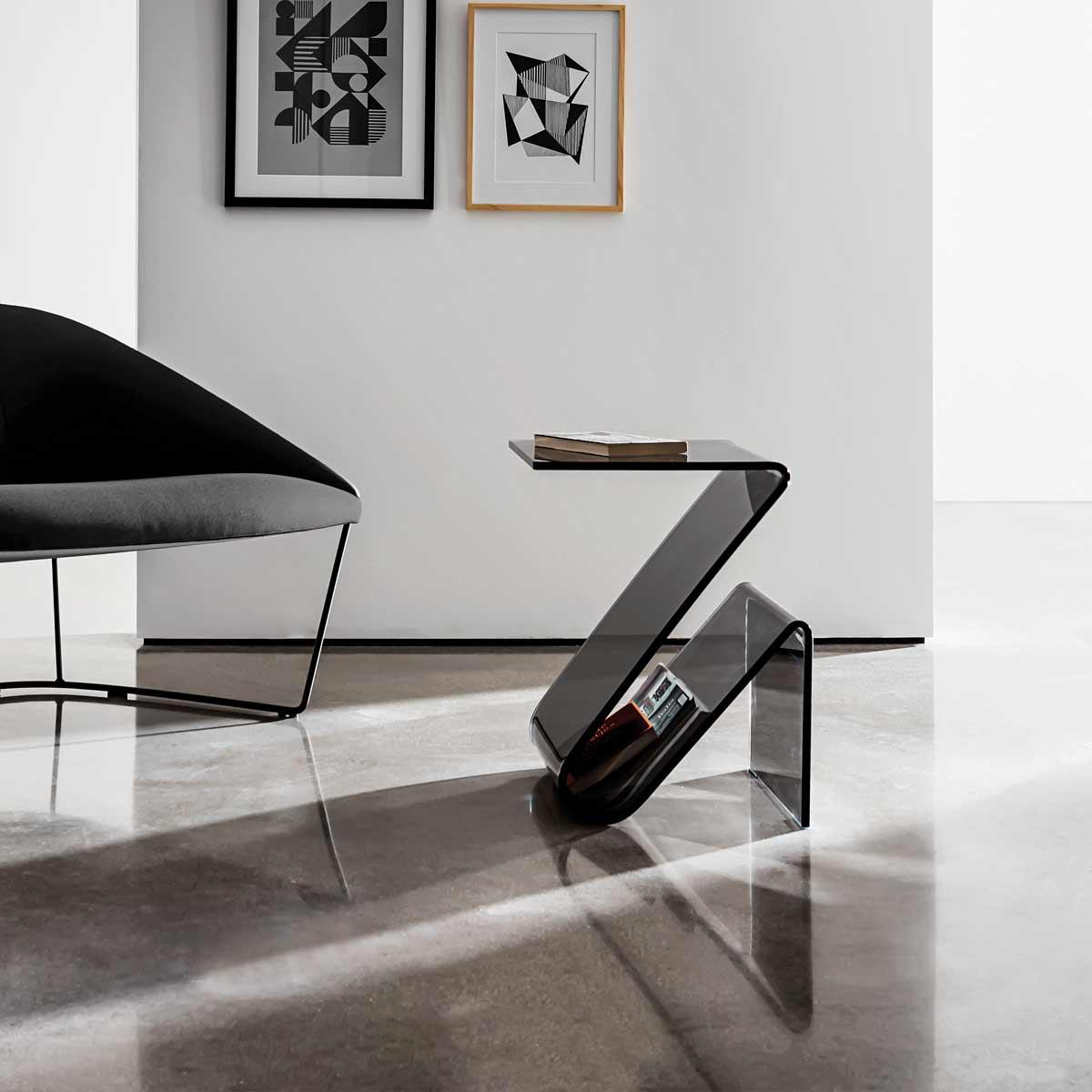 Zeta Glass Table Klarity Glass Furniture