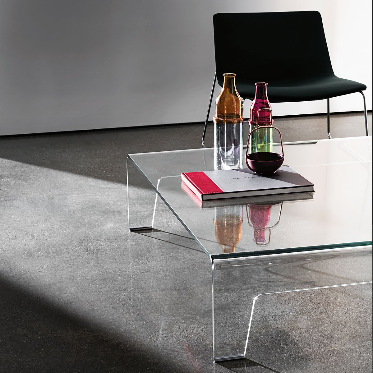 curved glass coffee table sovet italia