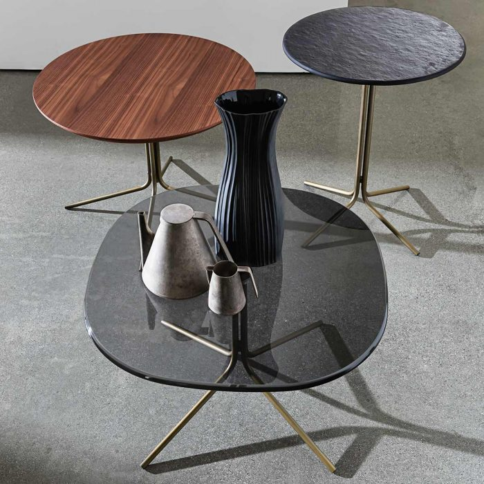 Genius Square Metal And Glass Table
