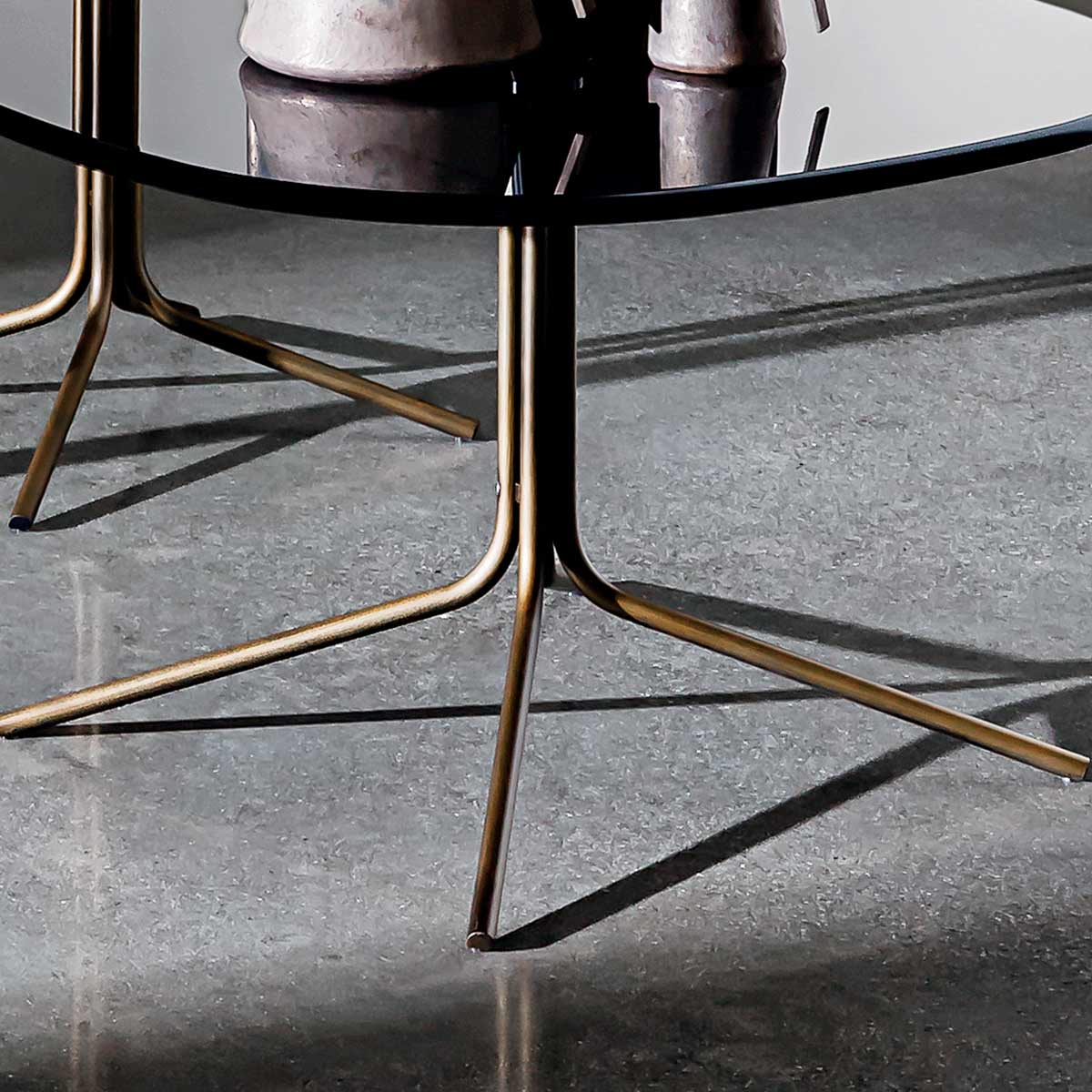 Genius Square Metal And Glass Table Klarity Glass Furniture