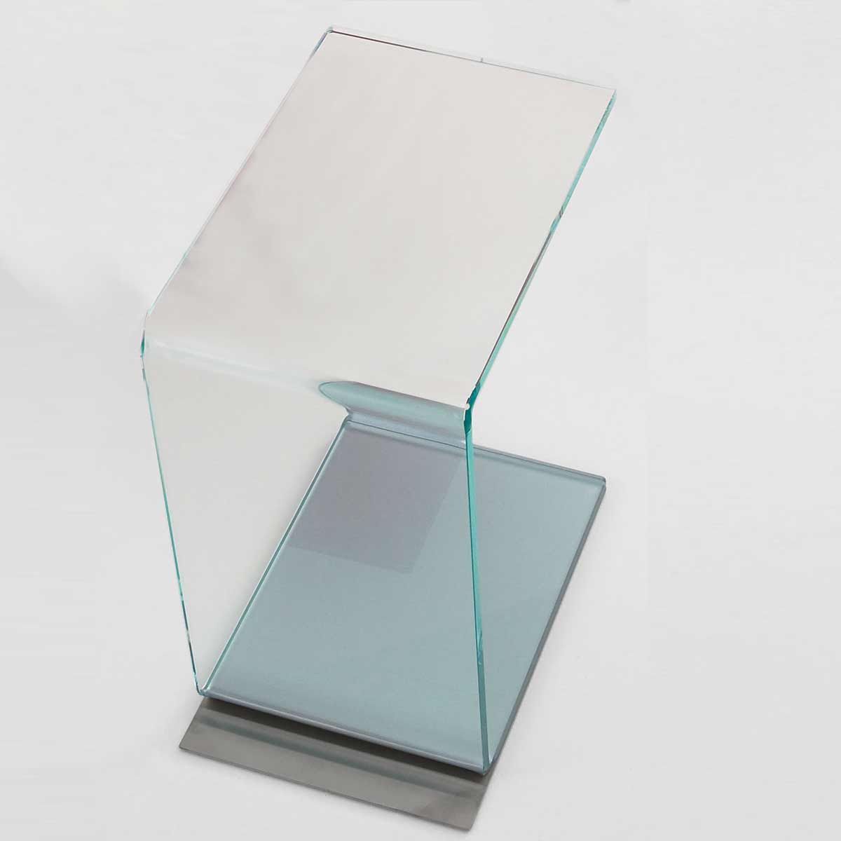 swan coloured glass table