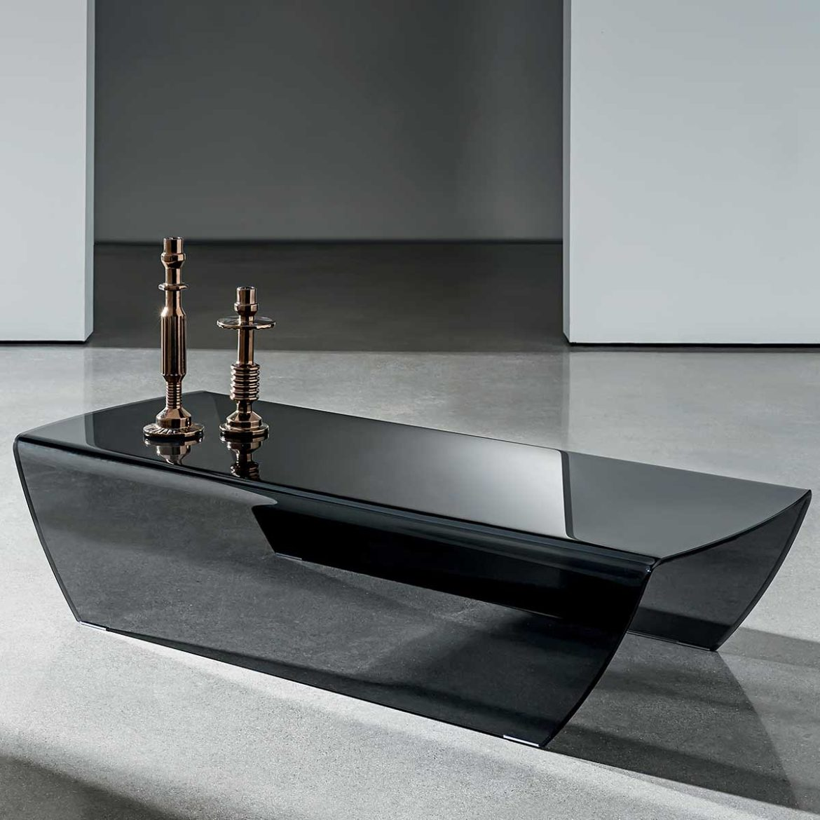 curved glass coffee table - taky