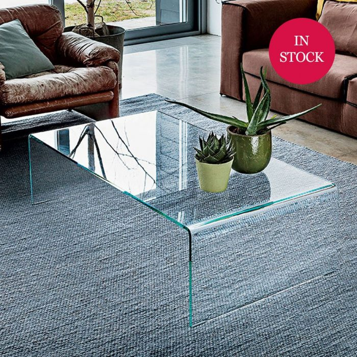 Curved glass Coffee Table in stock