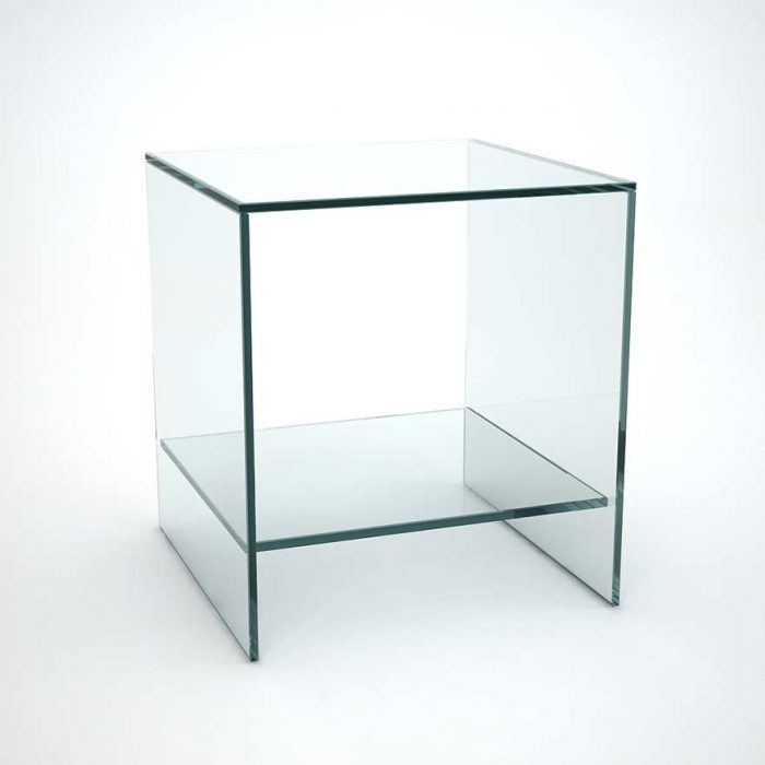 Ghotam Smoked Glass Table With Drawer Klarity