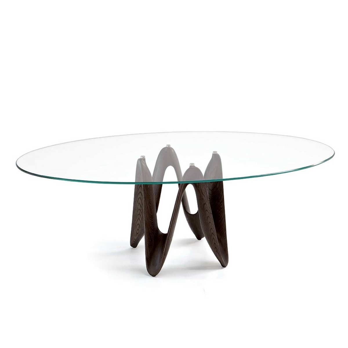 Lambda Oval Glass Dining Table Klarity Glass Furniture - Glass oval dining table