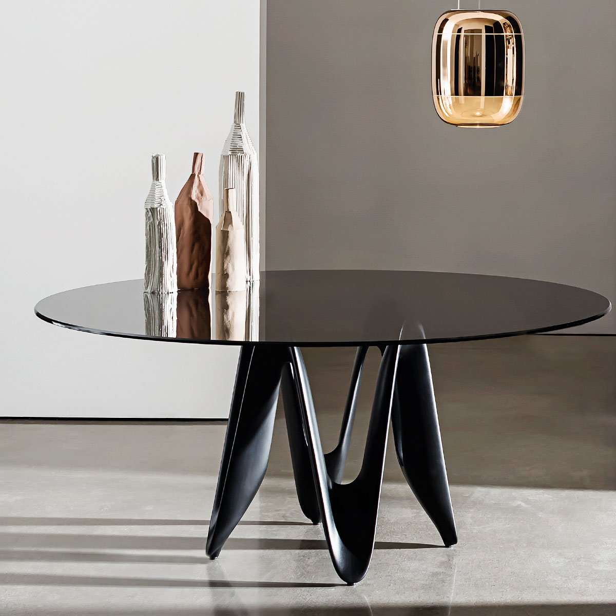 Klarity Glass Furniture Shop Glass Dining Tables Wood U0026 Glass Dining  Tables Lambda Table U2013 Round