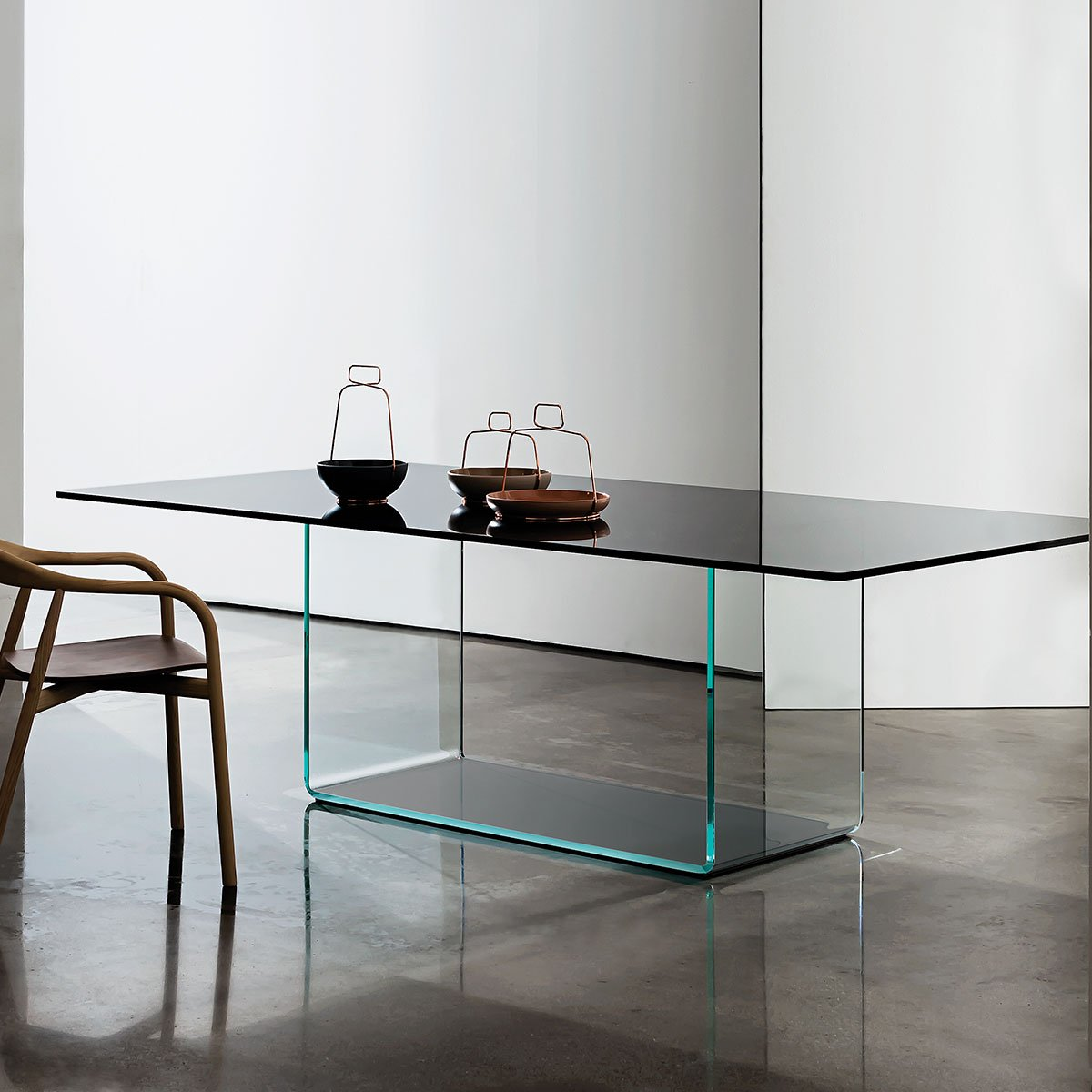 Valencia Glass Dining Table Klarity Glass Furniture