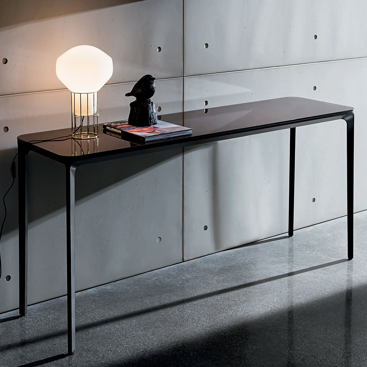 Slim Glass Console Table Klarity Glass Furniture