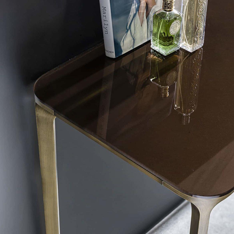 slim brass challway table