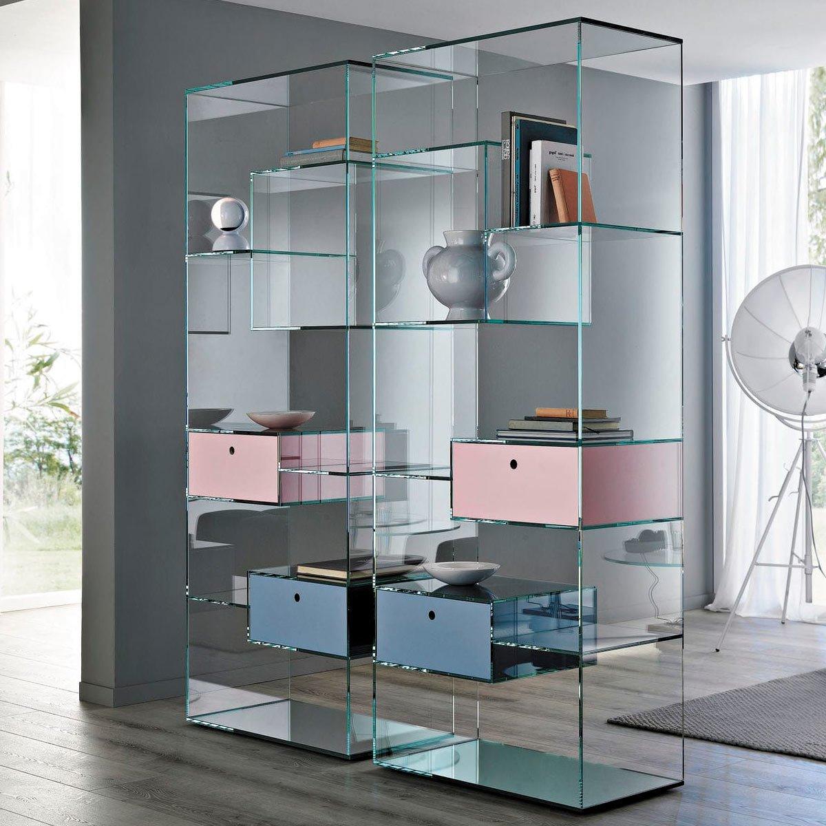 Tonelli Liber Storage Unit Type A Klarity Glass Furniture