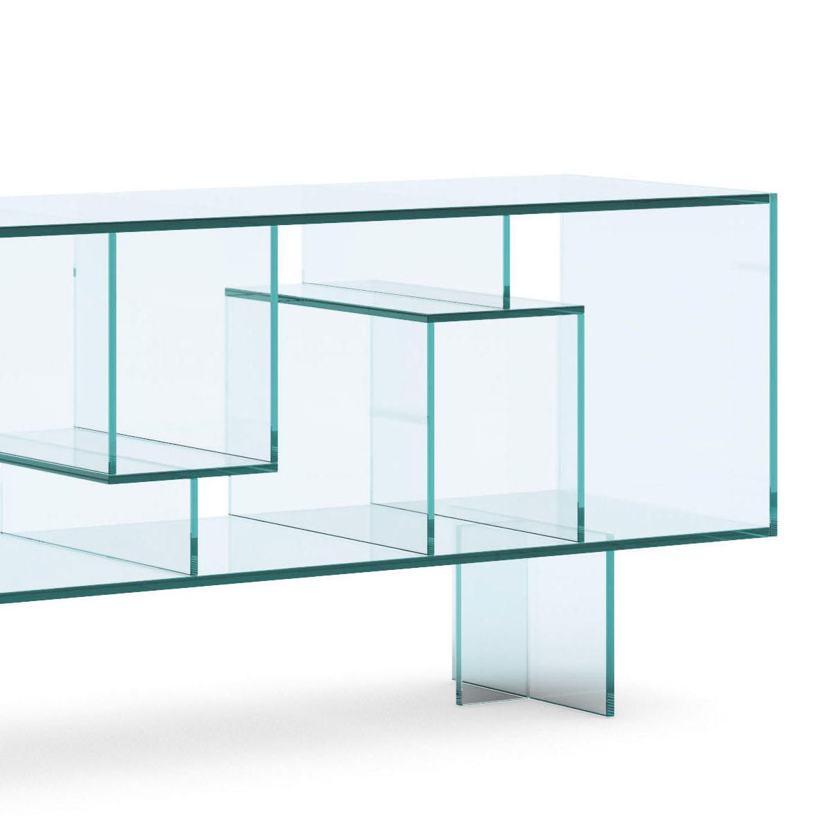 Tonelli liber m glass sideboard klarity glass furniture for Sideboard glas