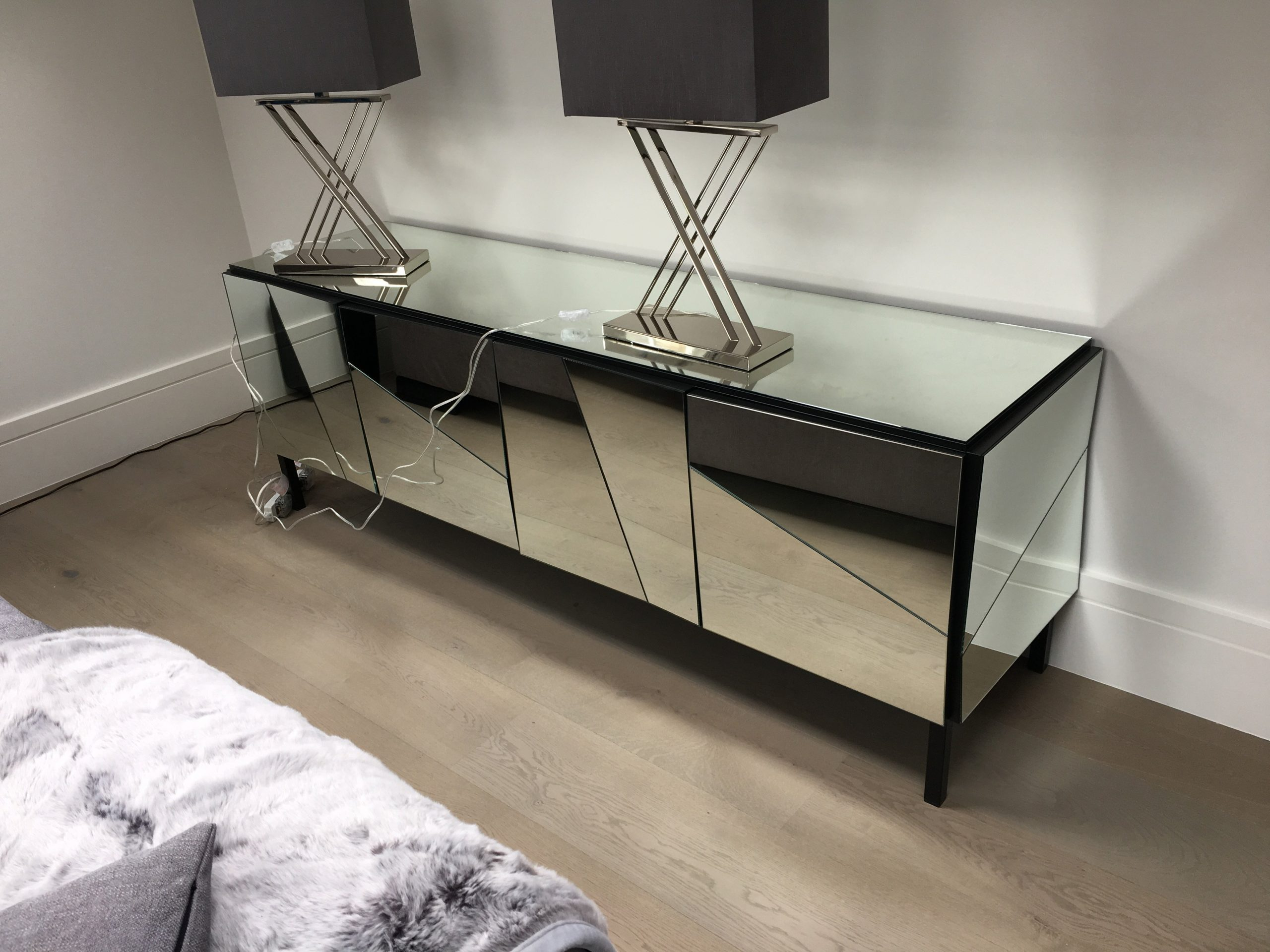 Plinsky Mirrored Sideboard
