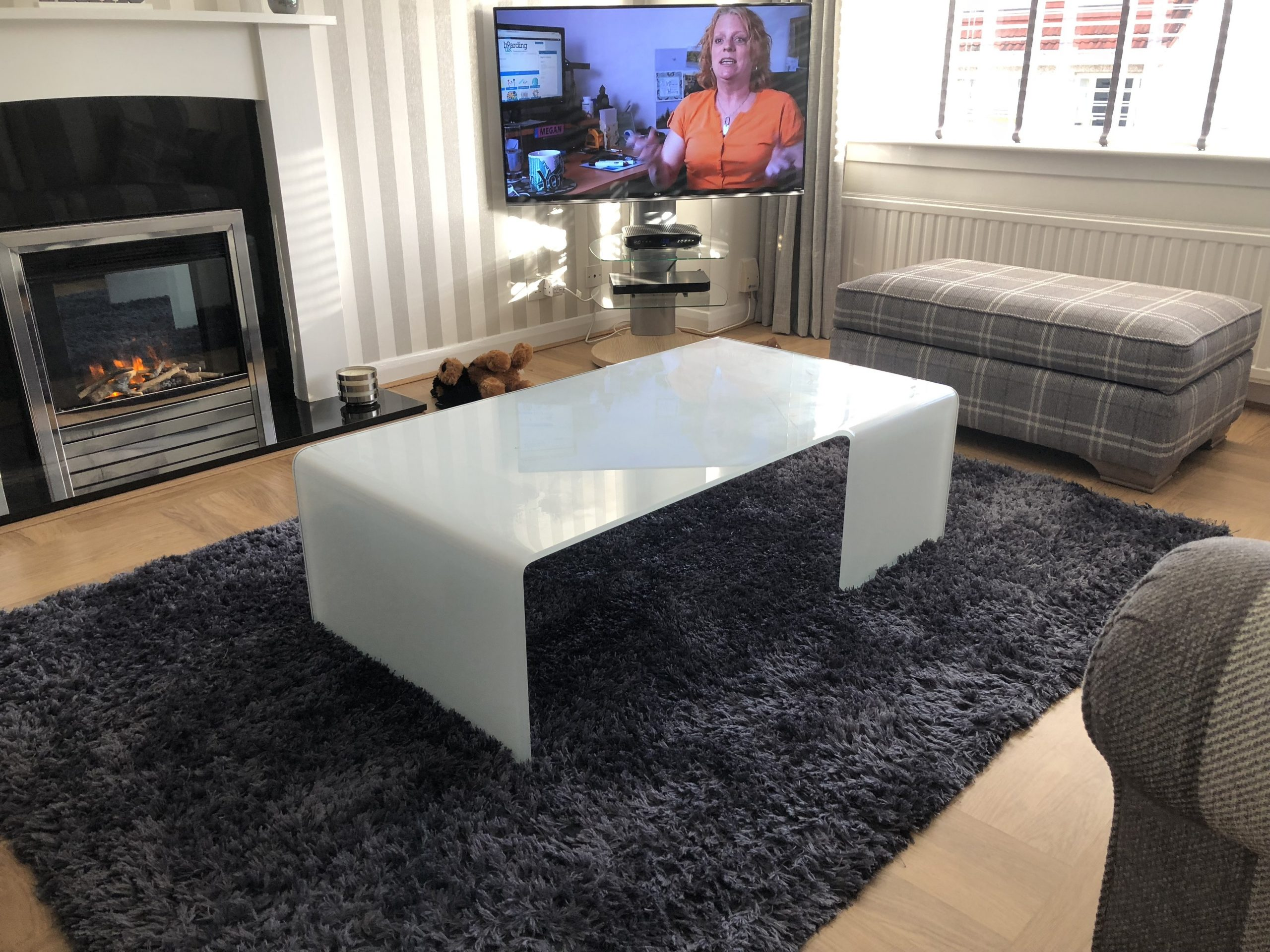 Sovet White Glass Coffee Table