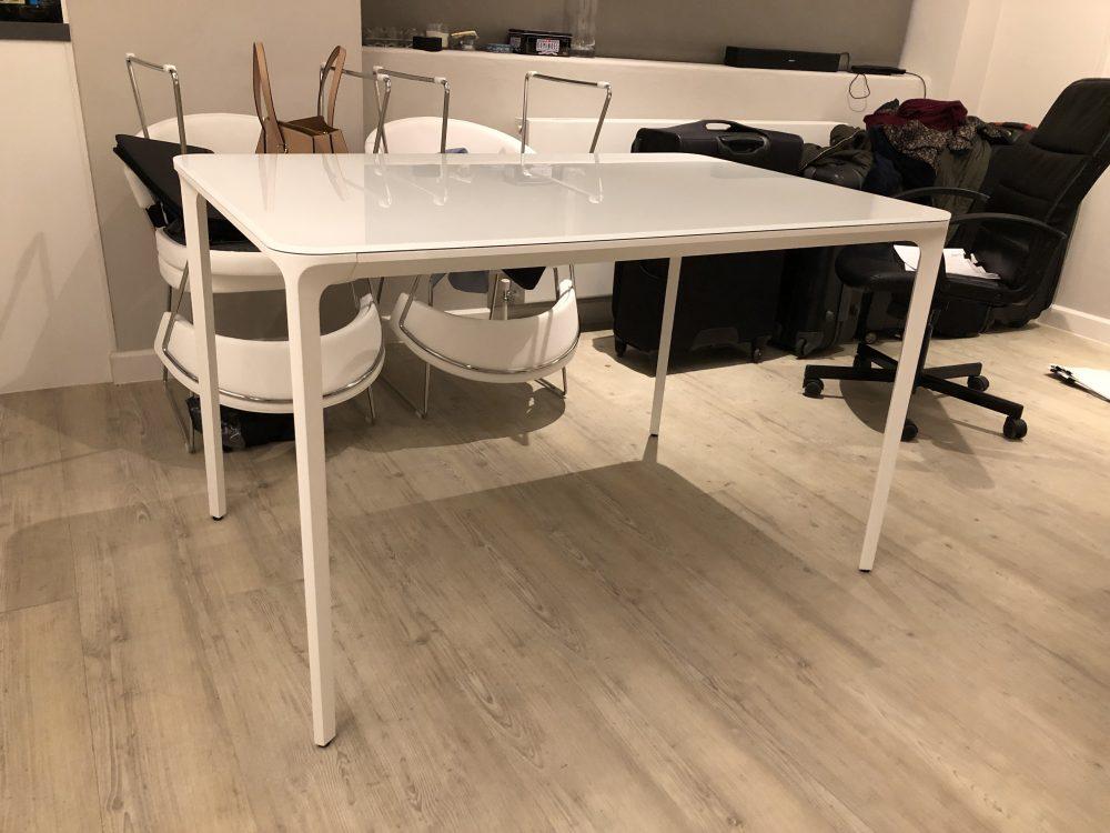 White Sovet Slim Dining Table