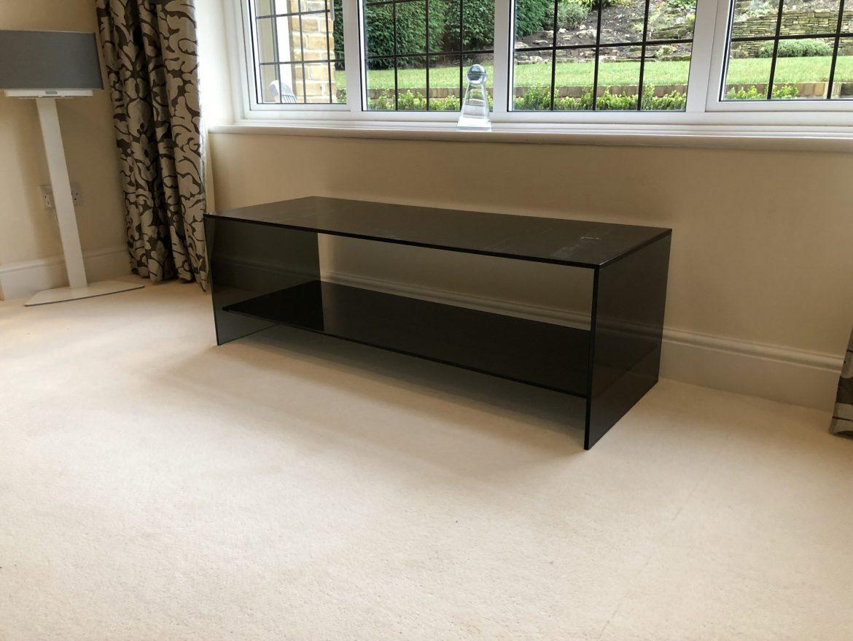 Smoked Glass Coffee Table with Shelf