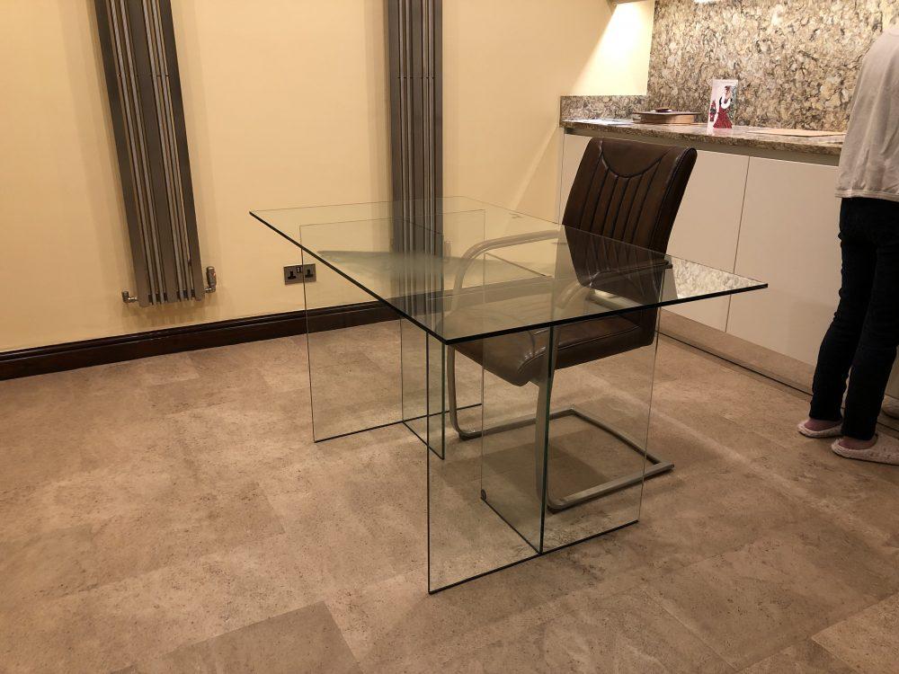 Regency Glass Desk