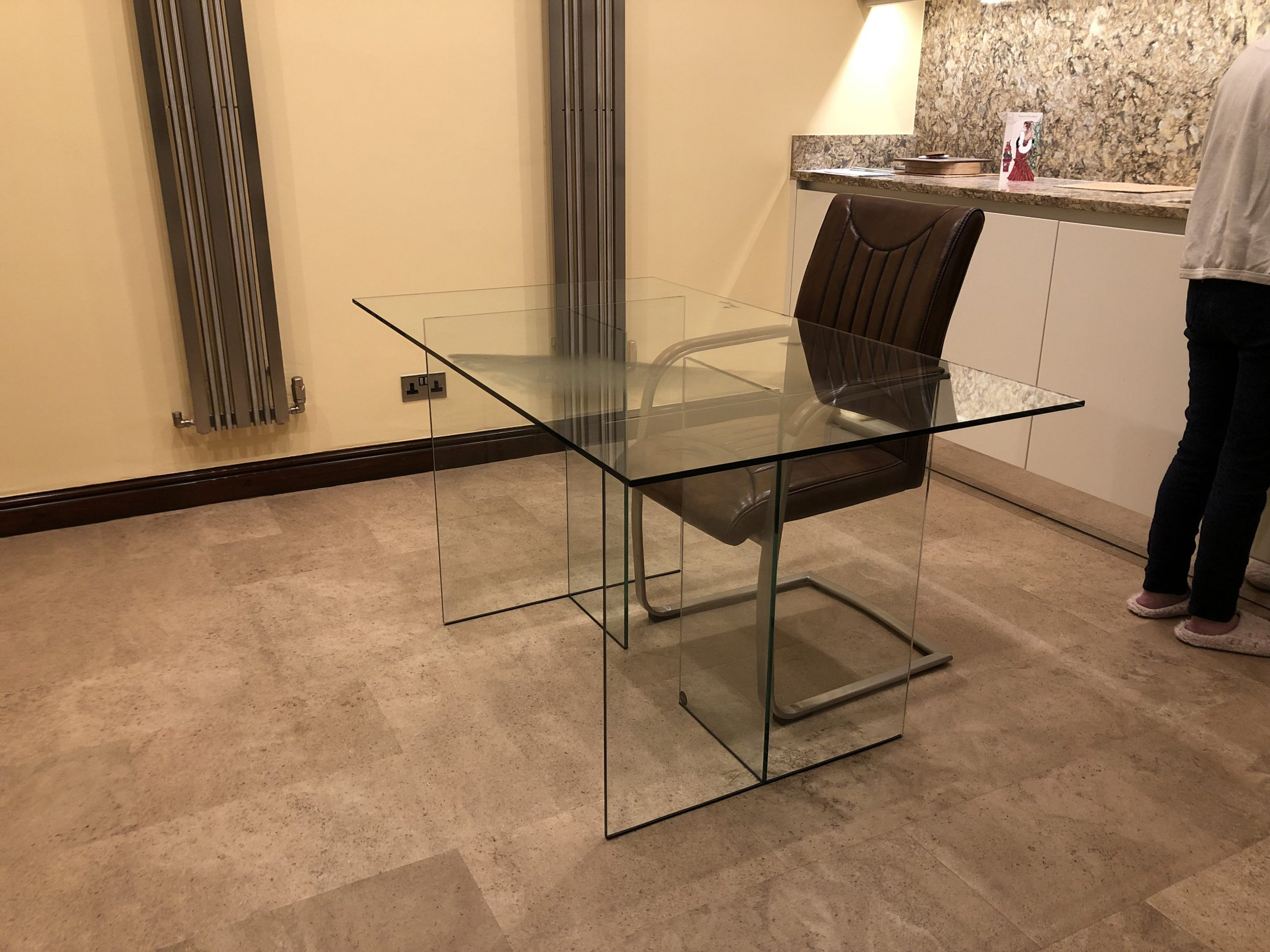 Regency Glass Desk